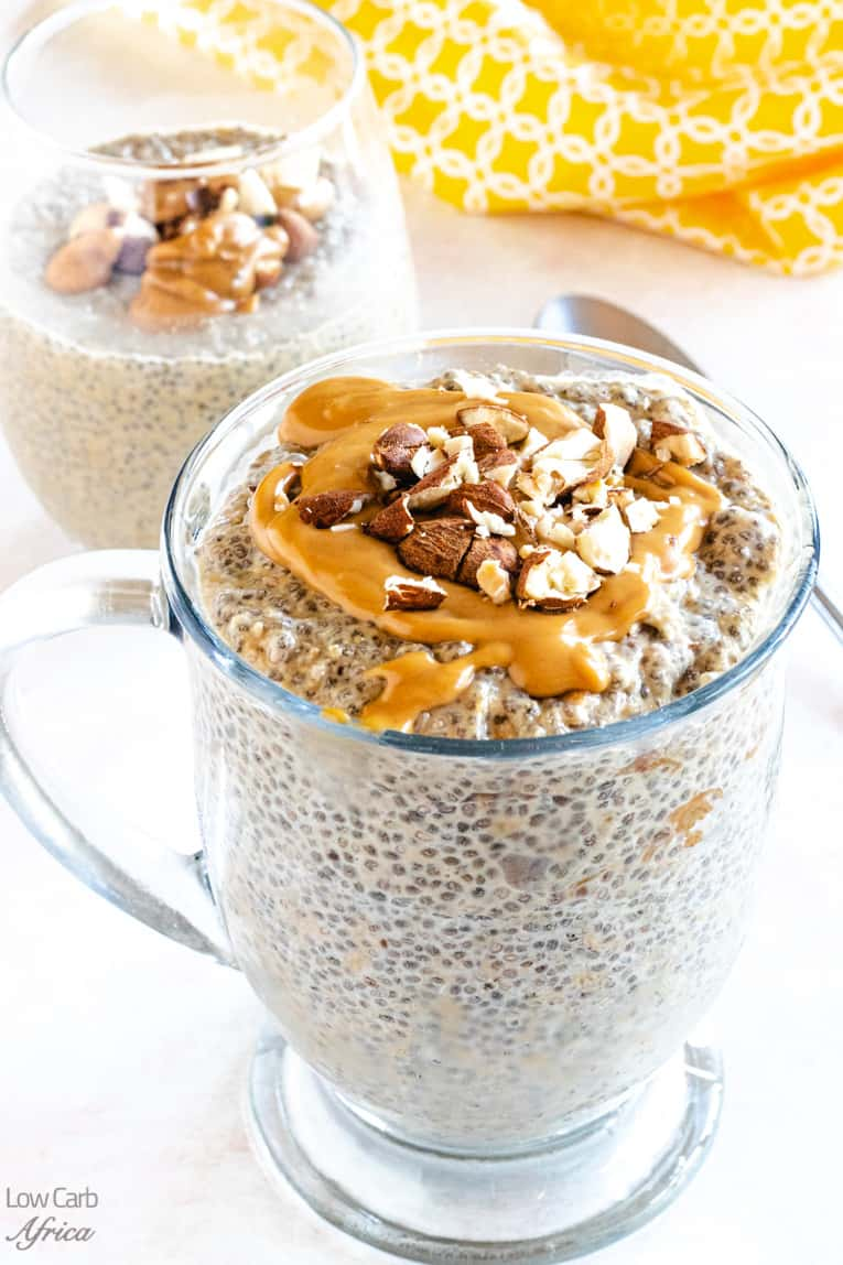 low carb peanut butter chia pudding