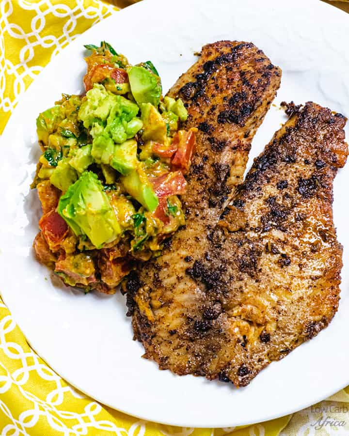 pan seared tilapia with spicy avocado salsa