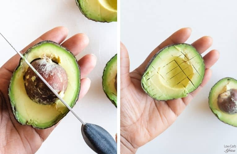 how to cut avocado in cubes