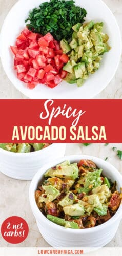pinterest image for spicy avocado salsa