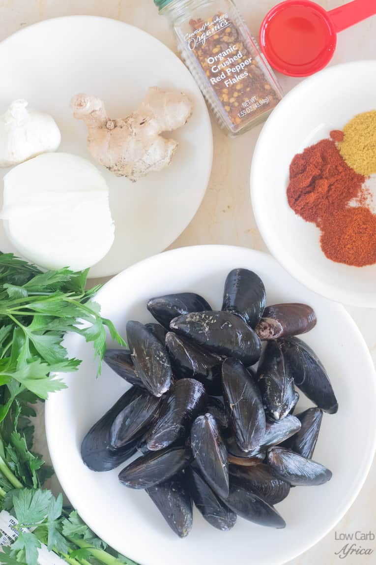 ingredients used in making mussel soup