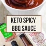 pinterest image for keto bbq sauce