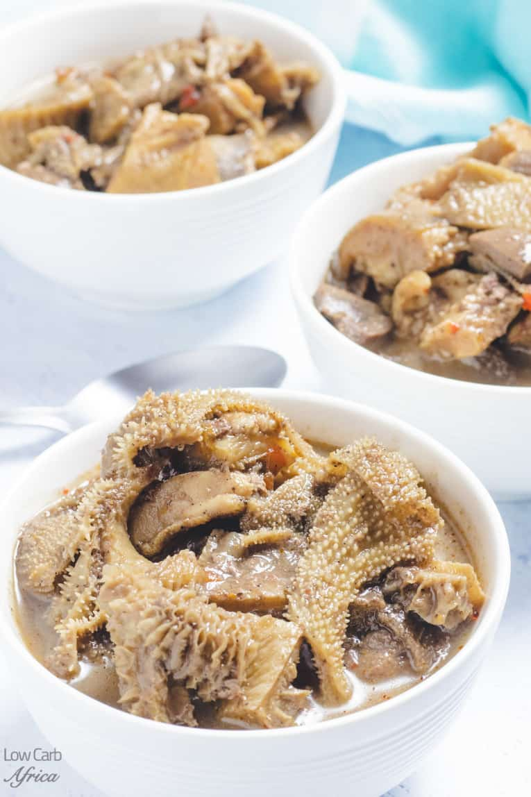 african pepper soup with offal meat
