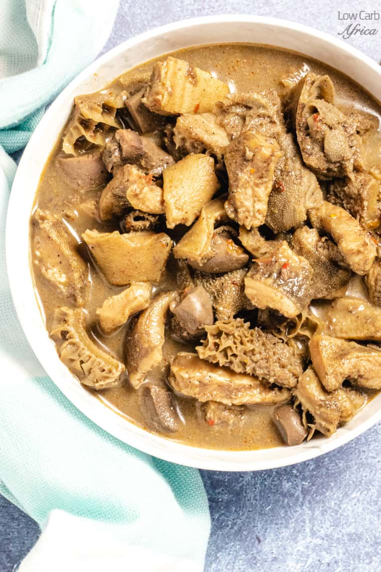 african pepper soup with kidney and tripe