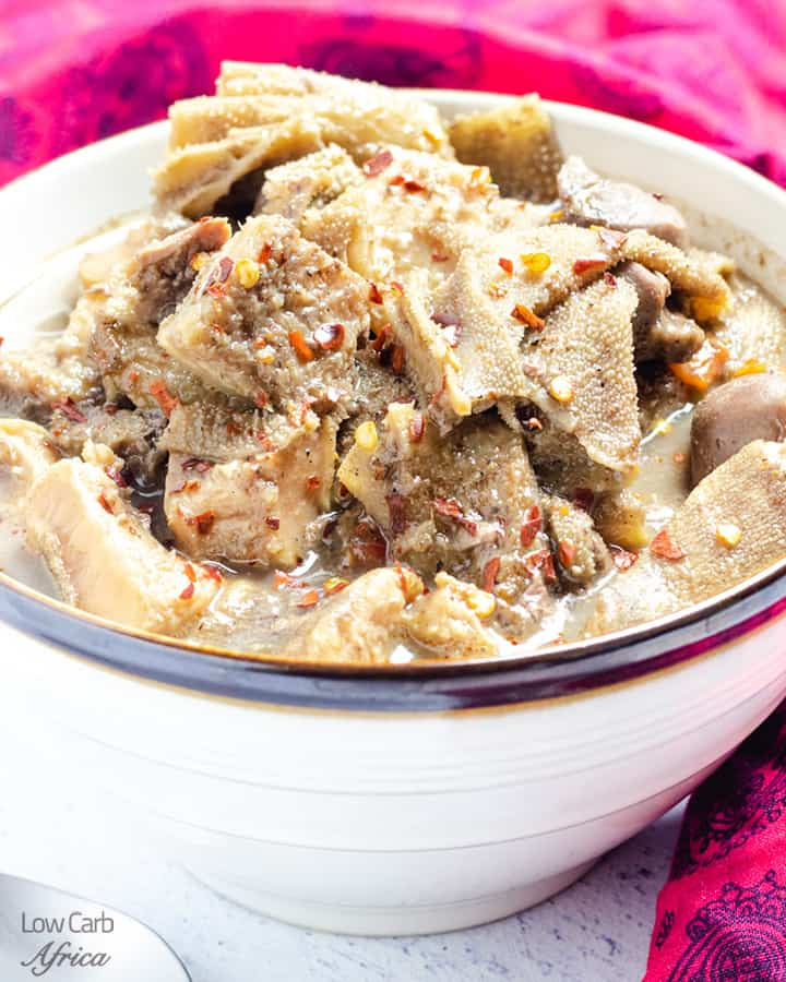 pepper soup with offal meat