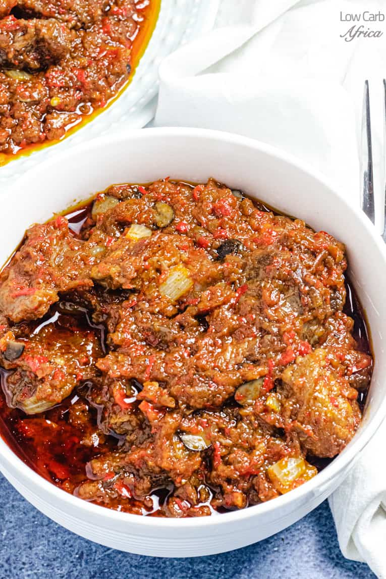 Nigerian ayamase stew is keto friendly, low carb and glutenfree