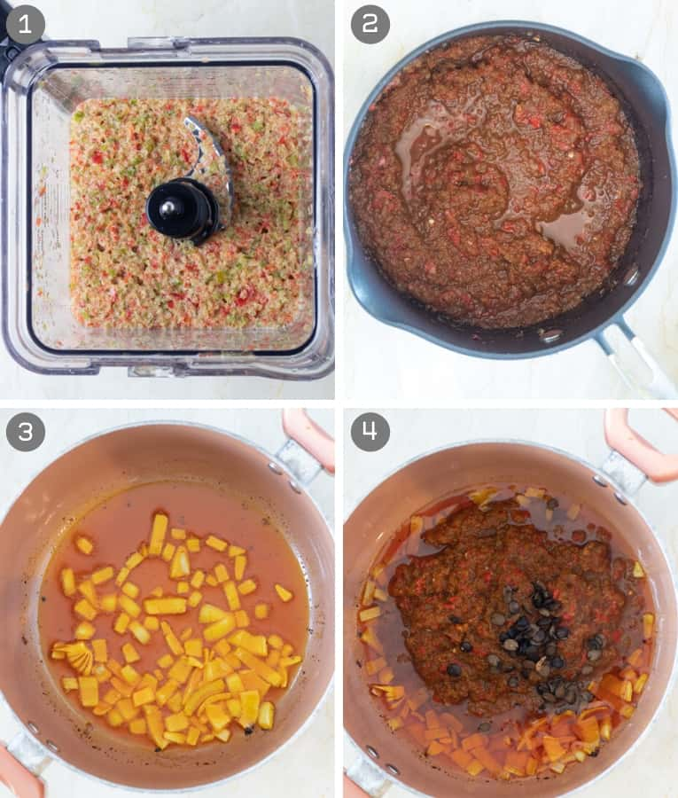 steps in cooking ayamase stew