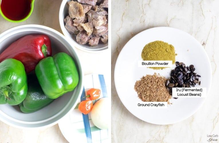 ingredients used in making ofada stew