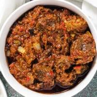 Nigerian ofada stew, ayamase stew, designer stew