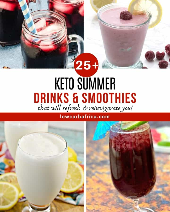 Keto and low carb drink and smoothies