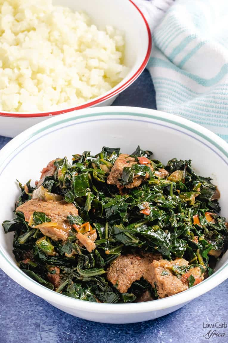 Keyan braised collard greens with beef