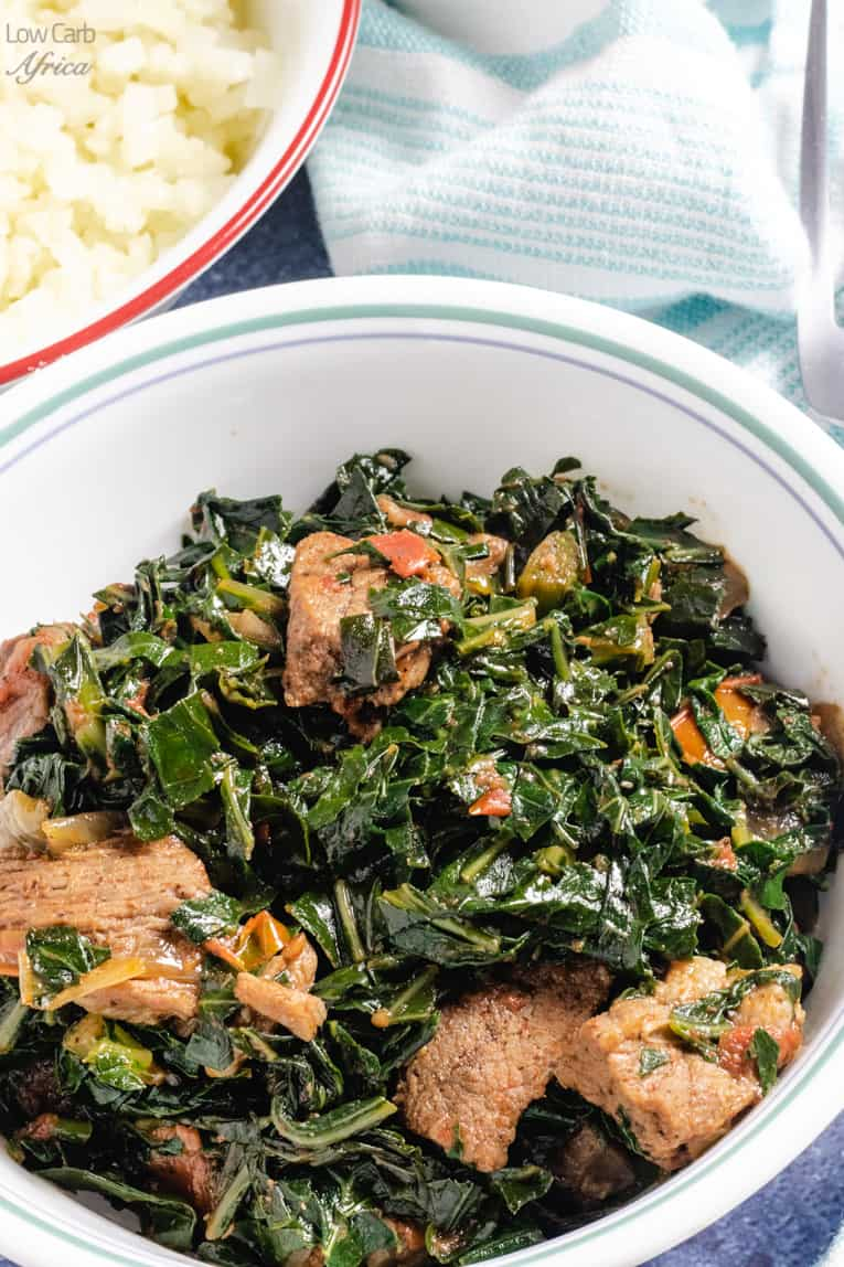 kenyan sukuma wiki made with collard greens