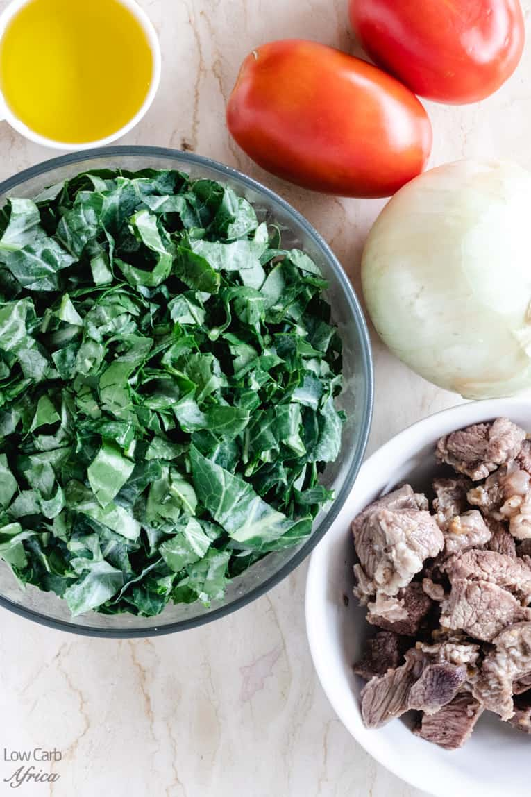 ingredients used in making kenyan collard greens