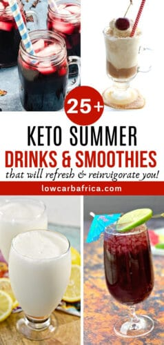 keto smoothie and drinks pinterest image