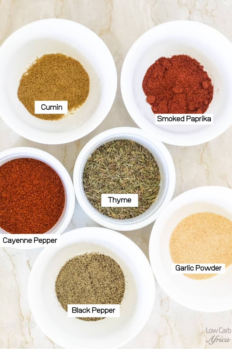 ingredients used in homemade bbq dry rub