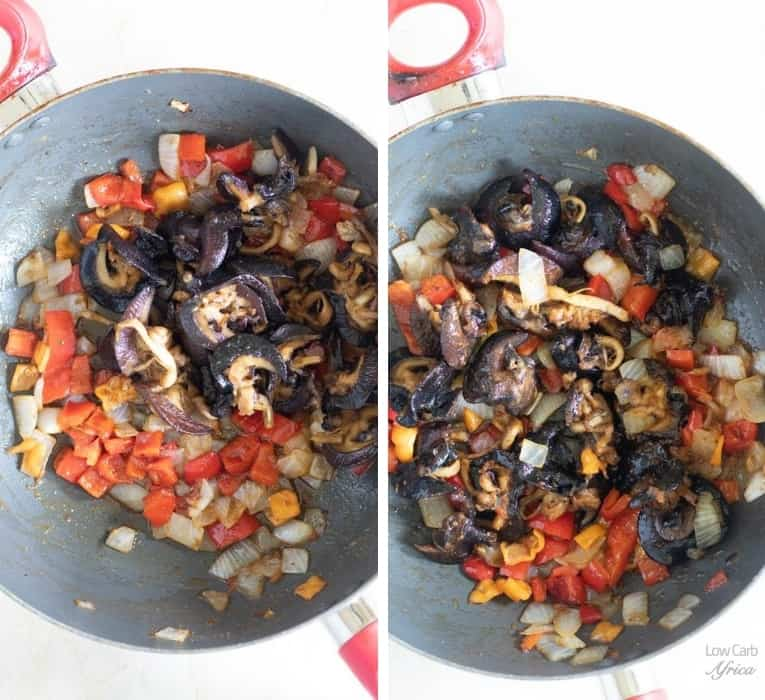 cooking snails with peppers