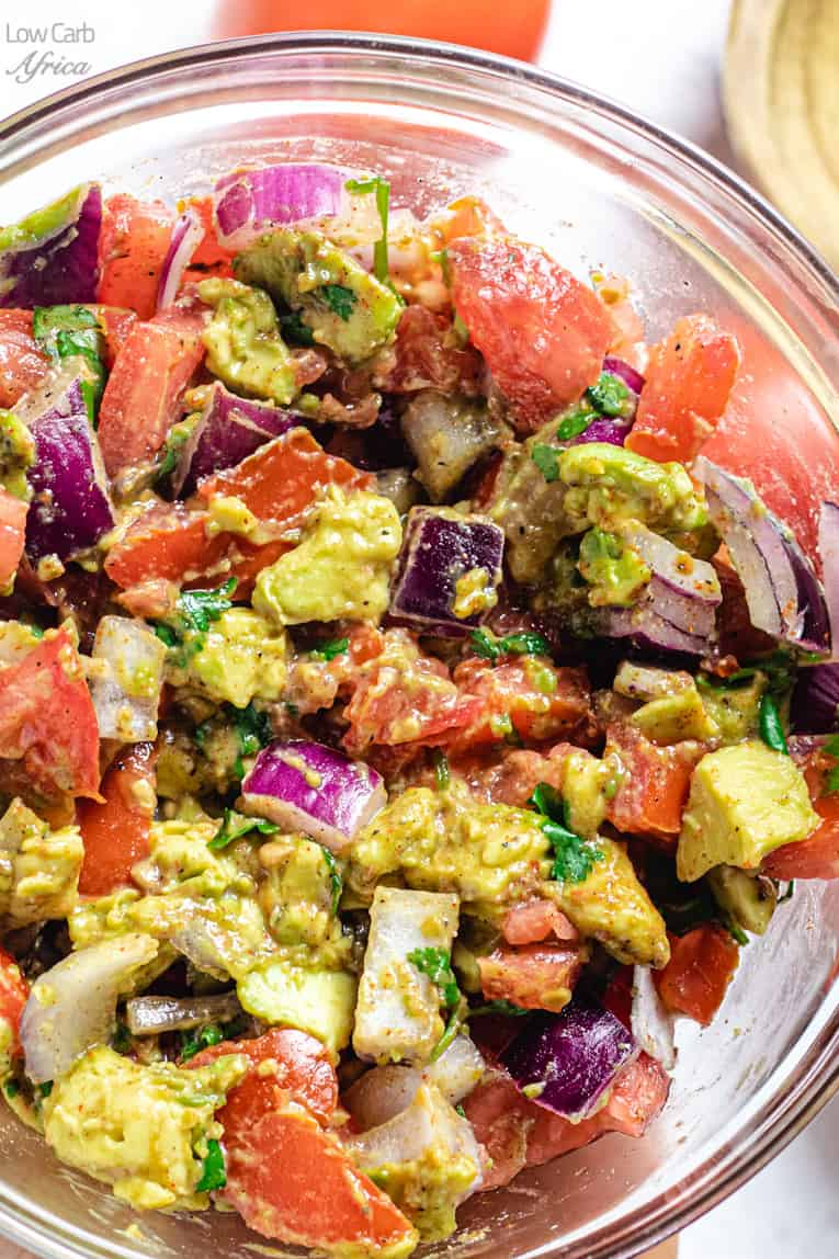 low carb keto African salad