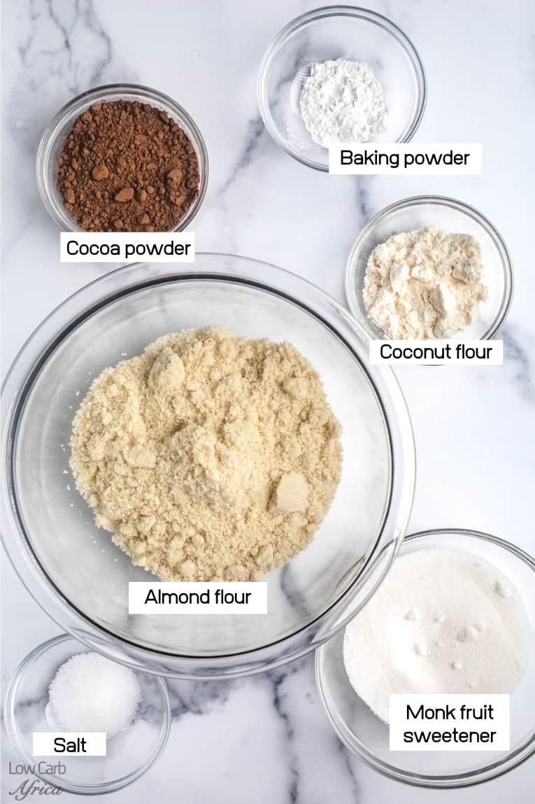 almond flour, coconut flour
