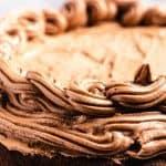 easy keto chocolate cake pinterest image