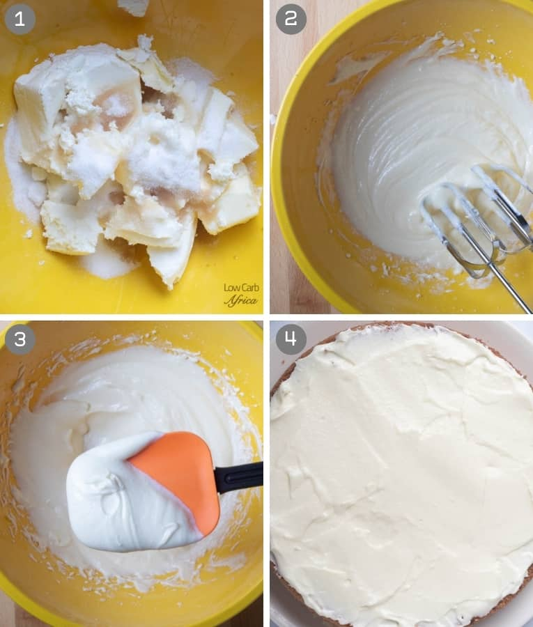 collage on how to make cream cheese frosting