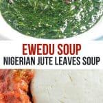 pinterest image of Nigerian ewedu soup