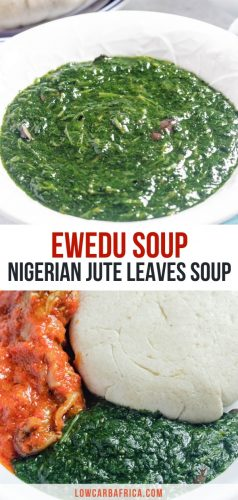 pinterest image of Nigerian ewedu soup