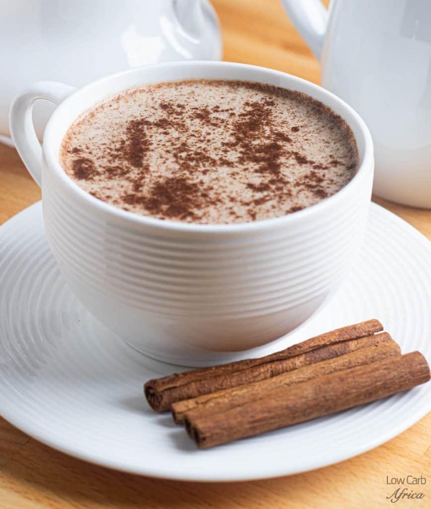 keto coffee with cinnamon sticks