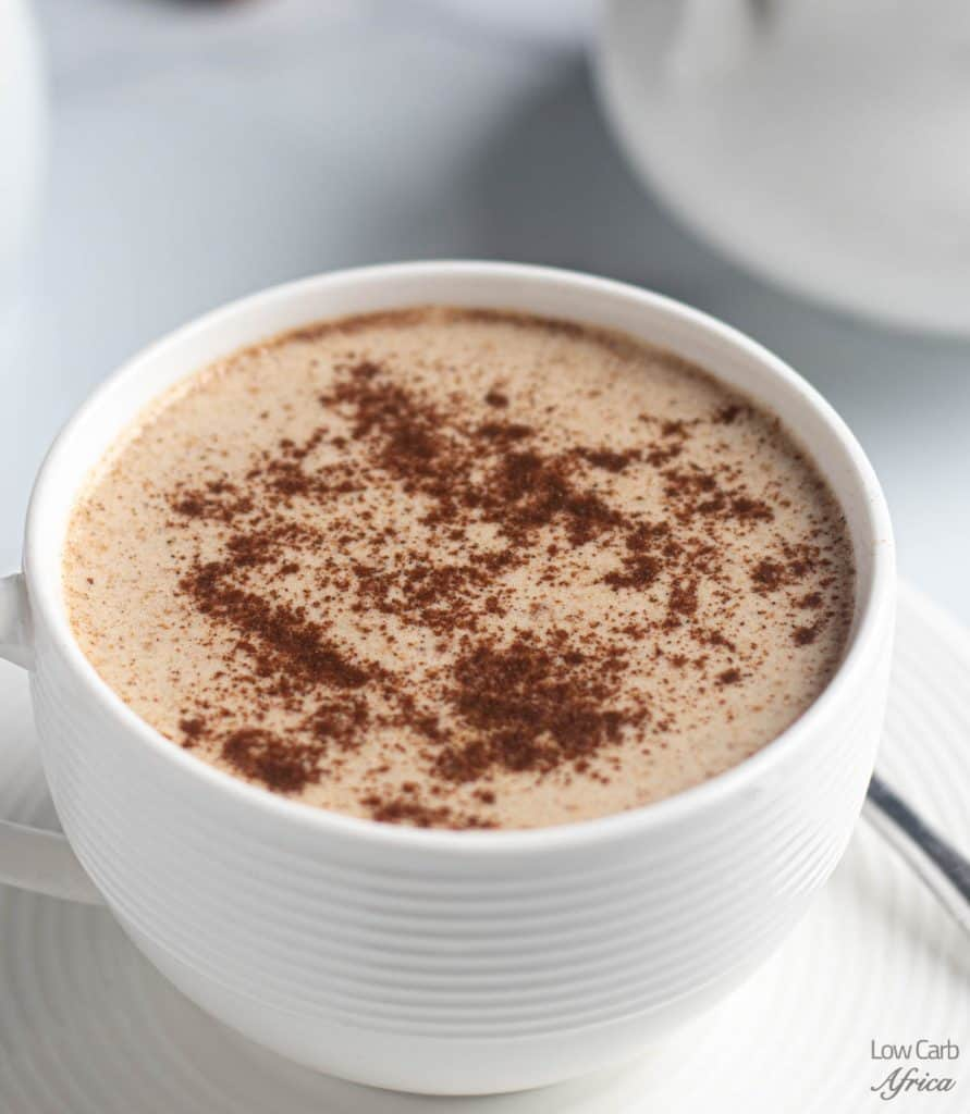 coffee with cinnamon sprinkled on it