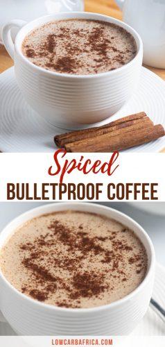 Spiced Bulletproof Coffee pinterest image