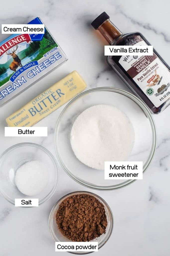 image of butter, cream cheese and keto sweetener