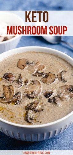 pinterest image for keto mushroom soup