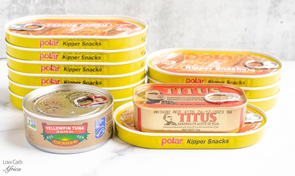 keto pantry staples, canned fish