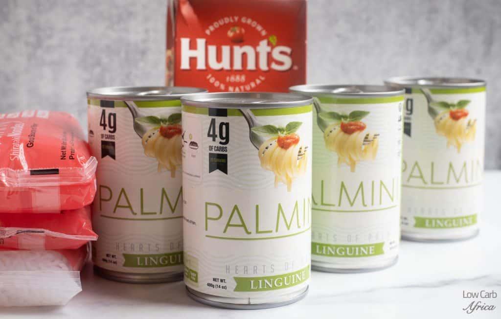 palmini noodles, tomato sauce