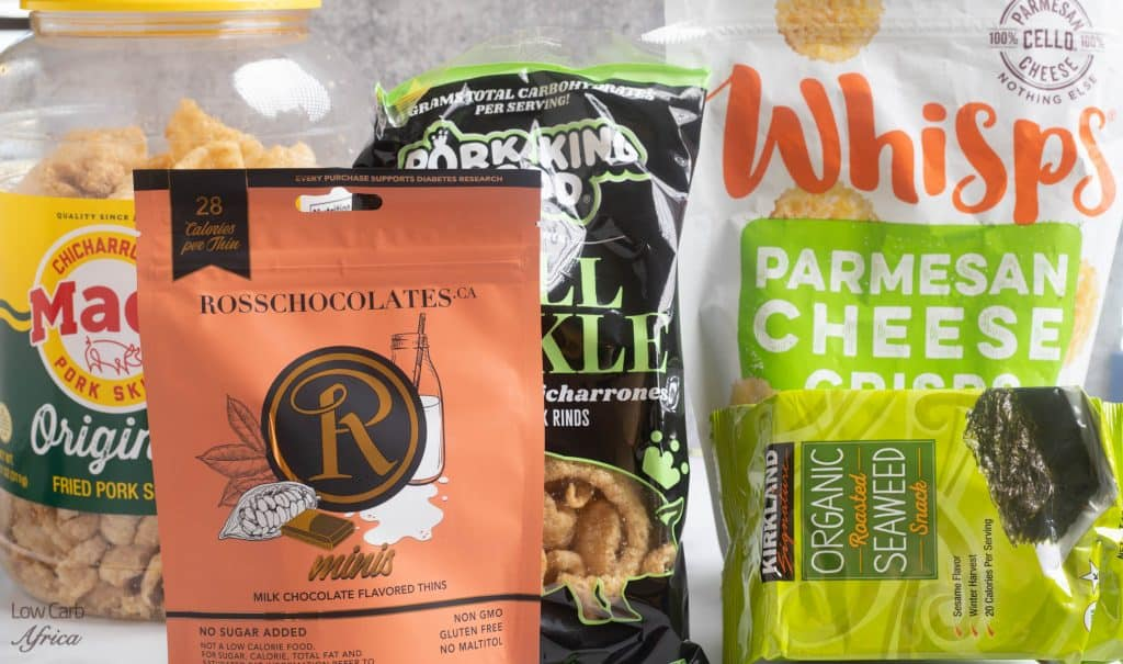 keto snacks, pork rinds, cheese crisps, seaweed
