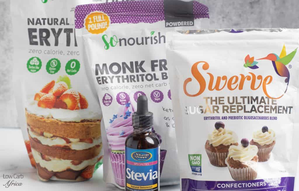 keto pantry staples,sweeteners, swerve, monk fruit