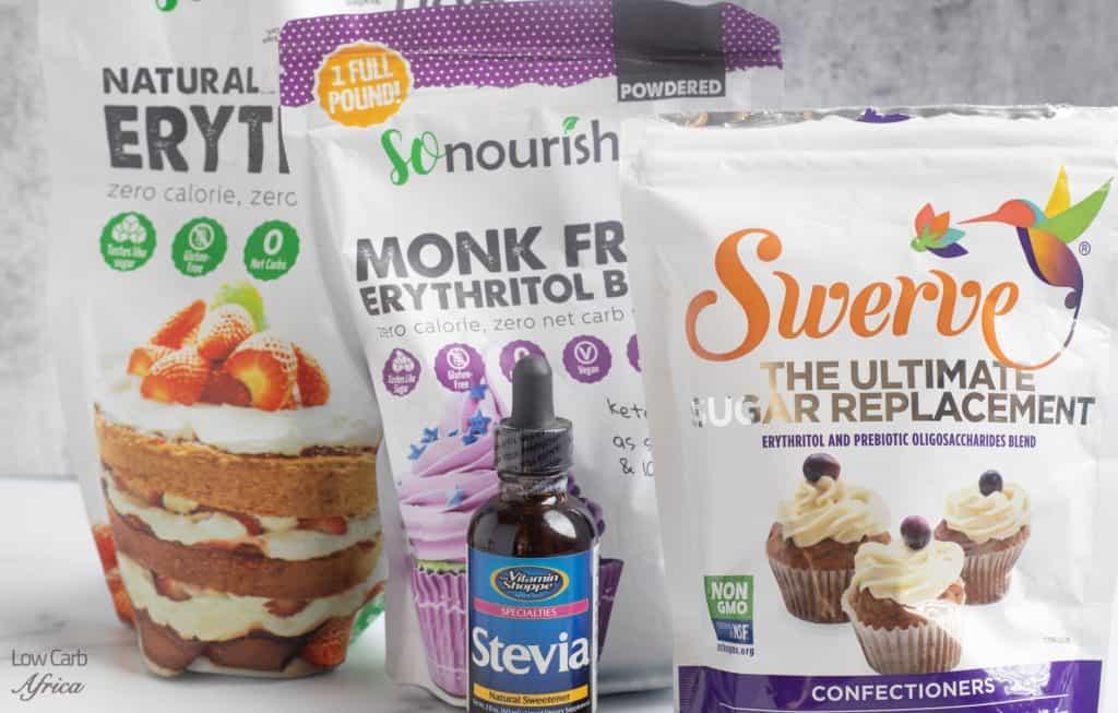 keto pantry staples,sweeteners, swerve, monk fruit