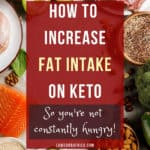 increase fat on keto pinterest image