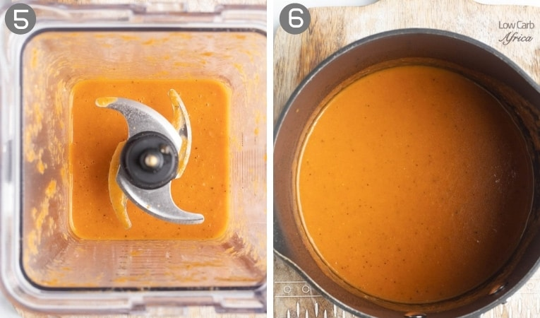 tomato soup in a blender