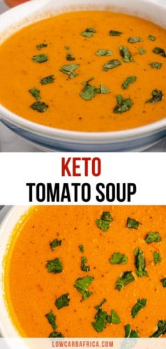 pinterest image for keto tomato soup