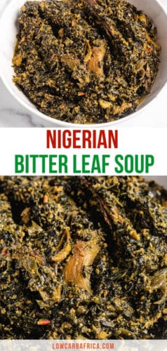 pinterest image of Nigerian bitter leaf soup