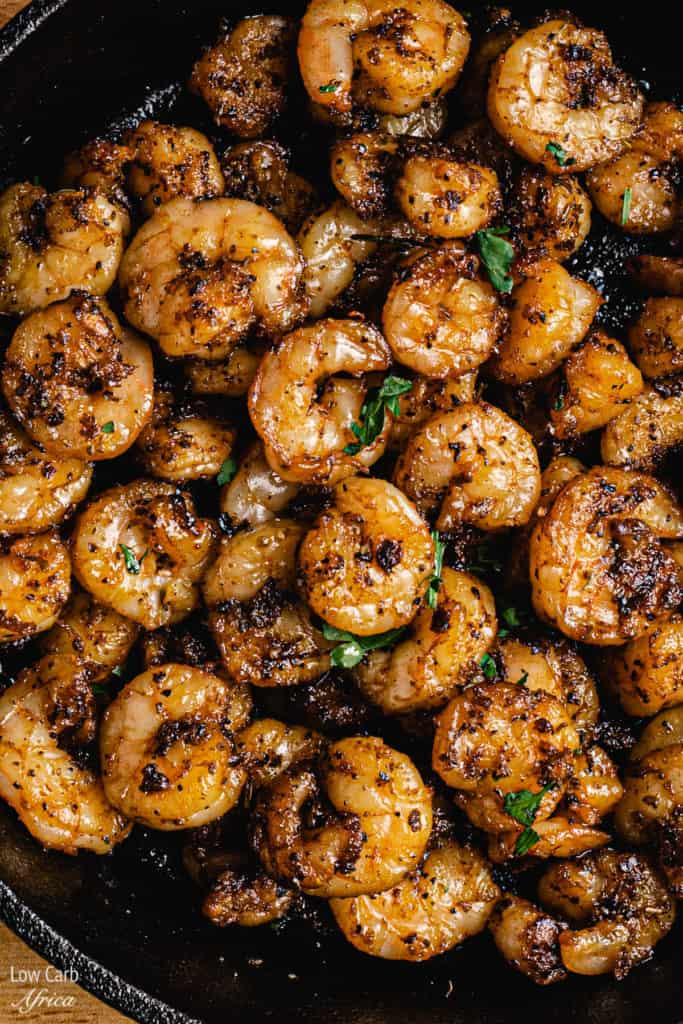 how to blacken shrimps in a pan