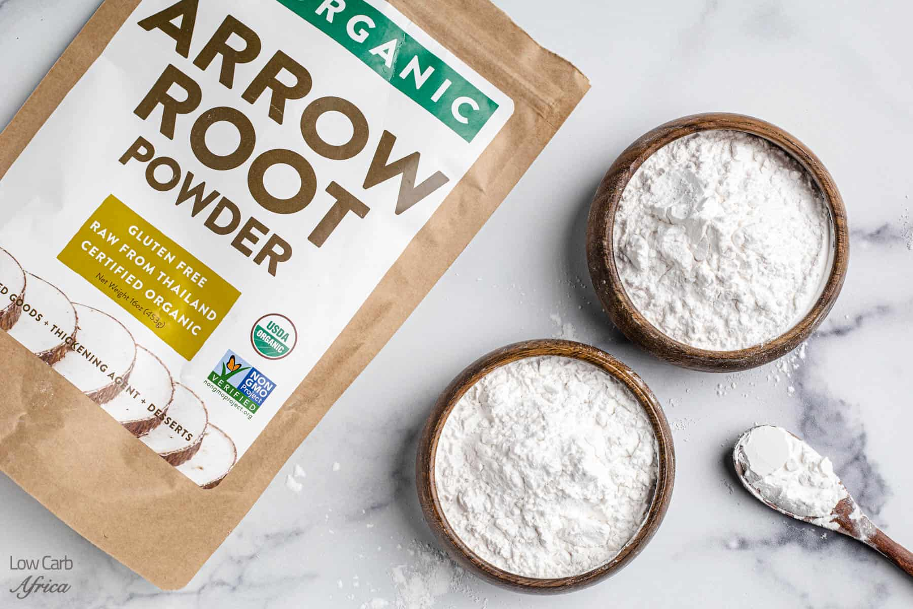 arrowroot powder in a bowl