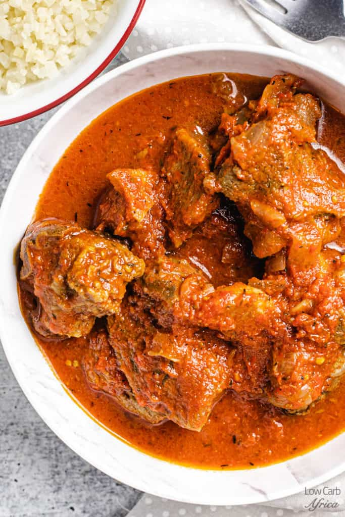 close up shot of African goat stew
