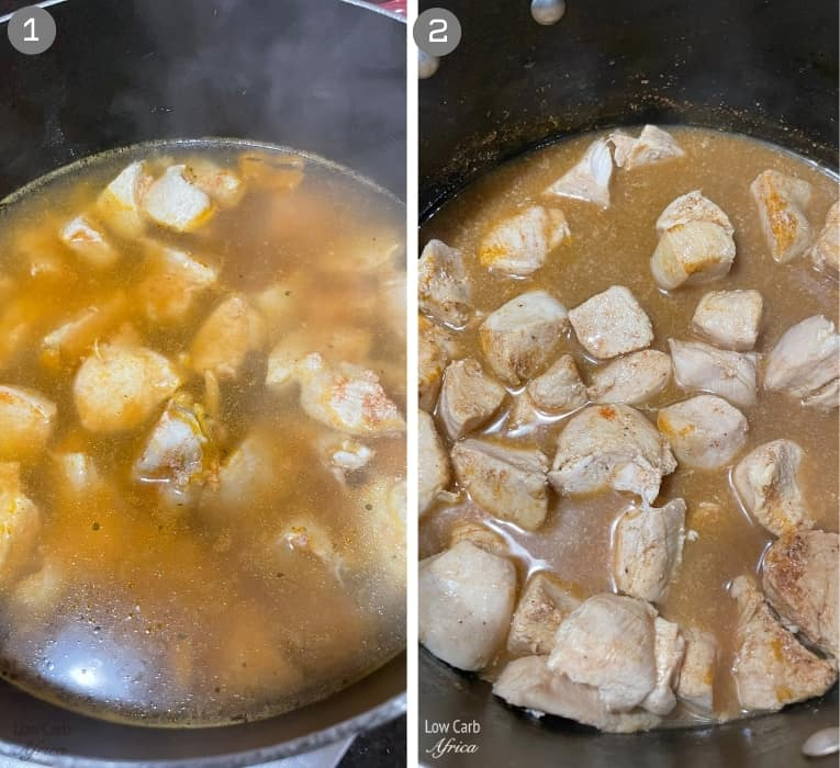 steps to make Nigerian chicken pepper soup