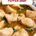 chicken pepper soup pinterest image