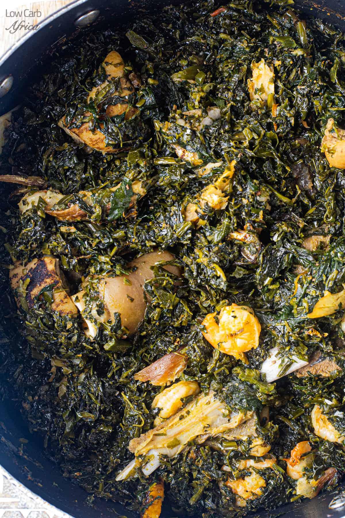 closeup shot of edikangikong soup