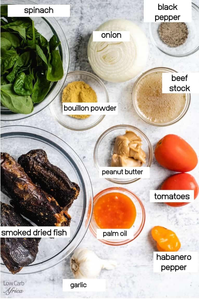 ingredients used in making fumbwa