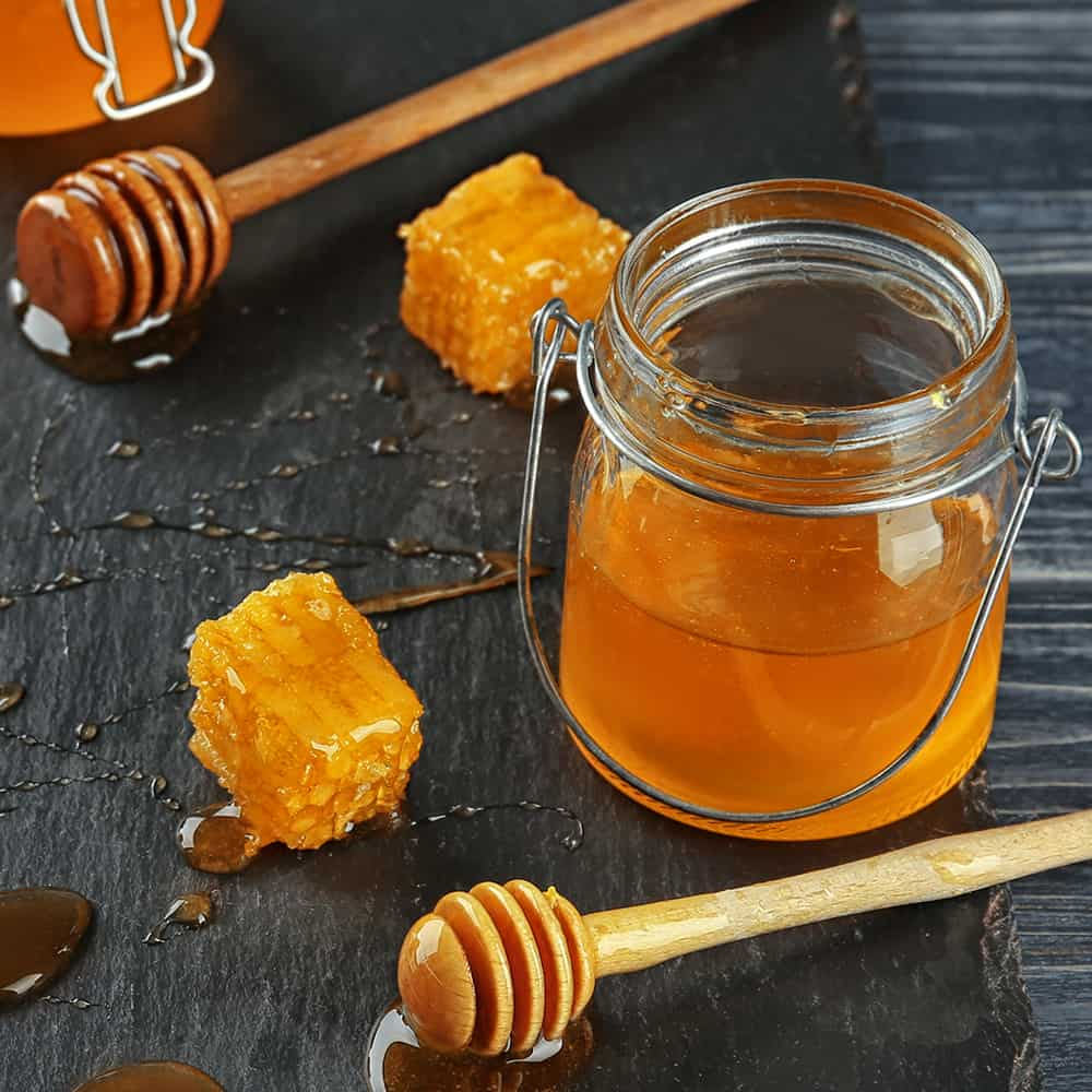 picture of honey in a jar