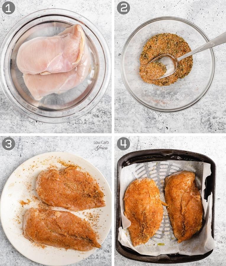 steps to make chicken in air fryer
