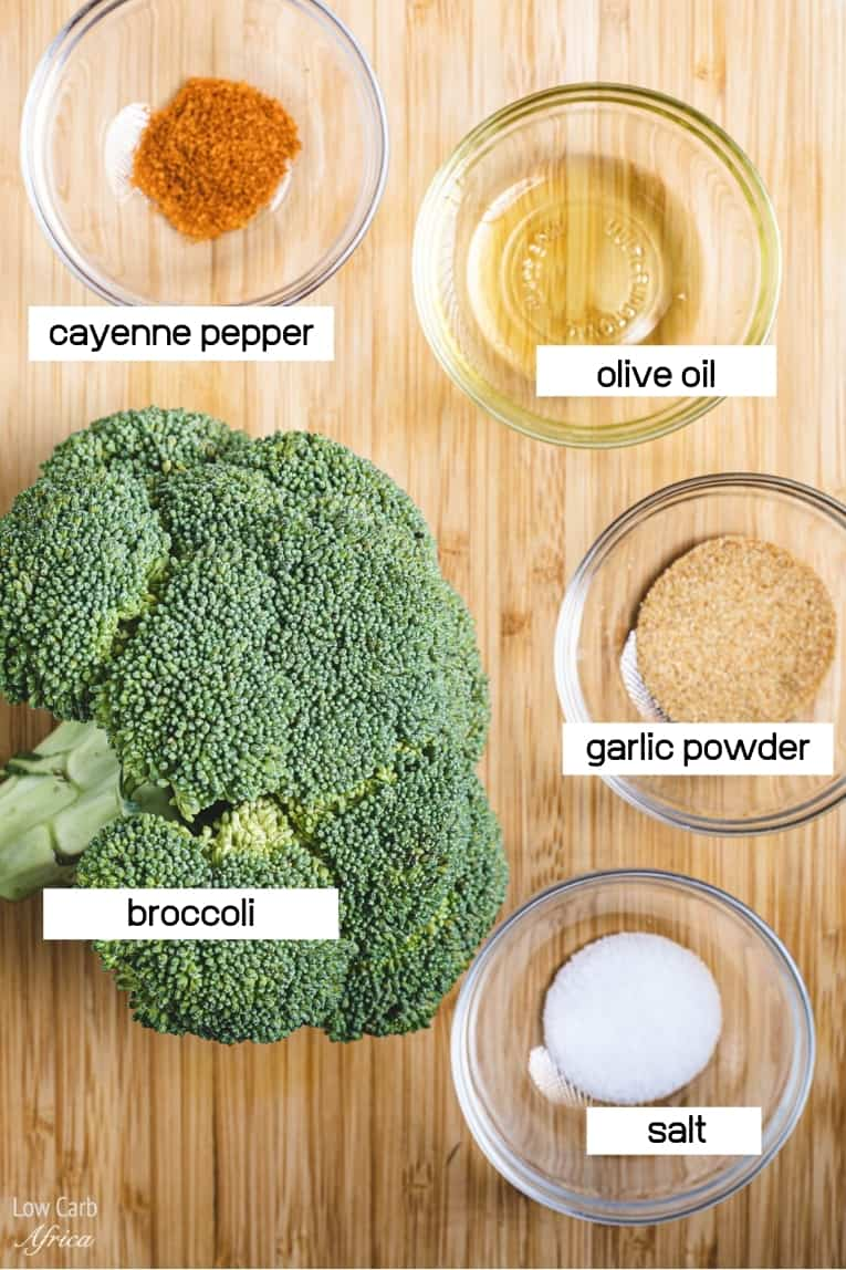 image of broccoli, olive oil and spices